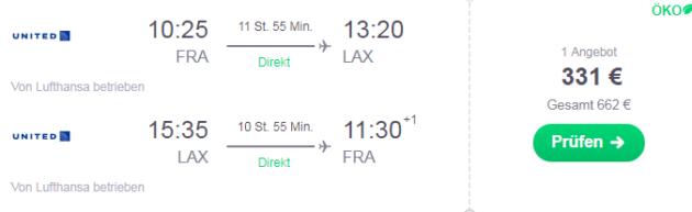 Flug nach Kalifornien