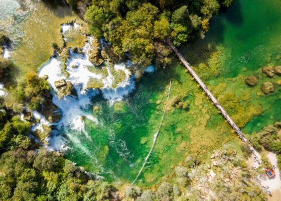 Kroatien Krka Nationalpark Luftbild