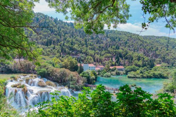 Kroatien Krka Nationalpark Wasserfall
