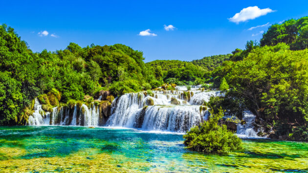 Kroatien Nationalparl Krk Wasserfälle