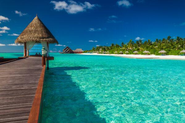 Malediven Holz Wassersteg
