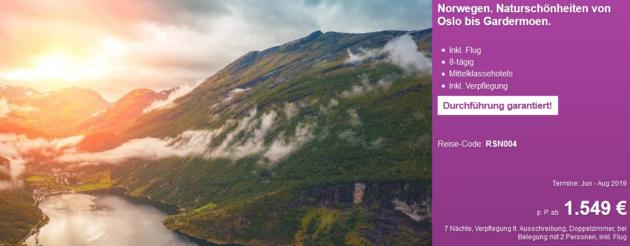 8 Tage Norwegen Rundreise