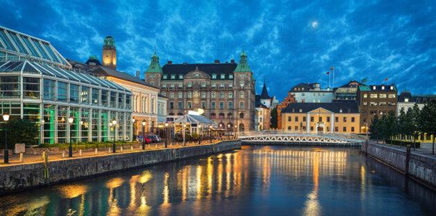 Schweden Malmö Abends