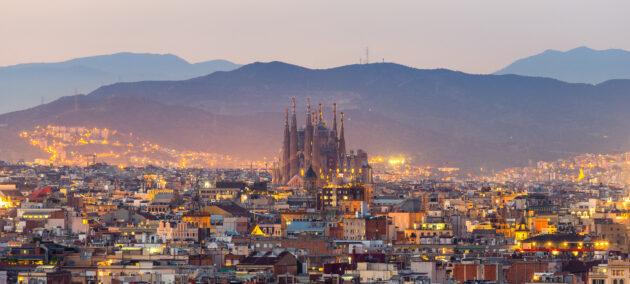 Spanien Barcelona Panoramablick