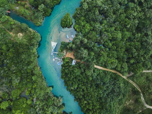Thailand Regenwald Luftbild