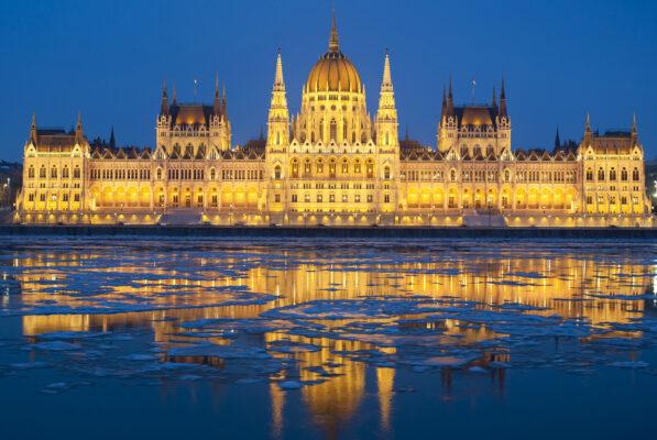 Ungarn Budapest Schloss Weihnachten