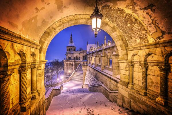 Ungarn Budapest Schnee Weihnachten