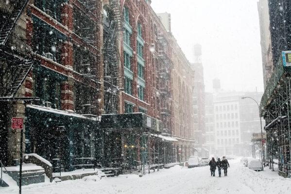 USA New York Schneesturm