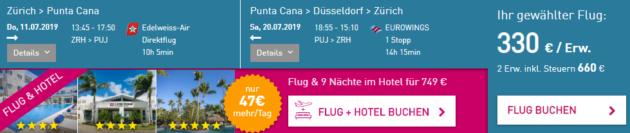 Zürich nach PUJ