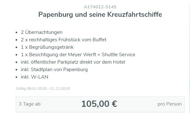 3 Tage Papenburg