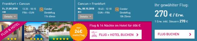 Cancun Flugschnäppchen