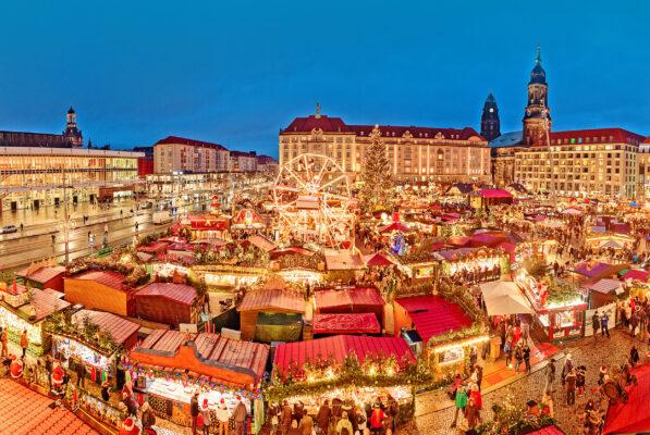Dresden Weihnachtsmarkt Lichter