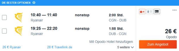 Flug Köln Dublin
