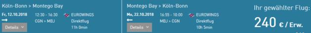 Flug Köln Montego Bay