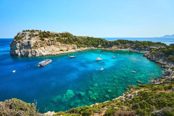 Griechenland Rhodos Anthony Quinn Bay
