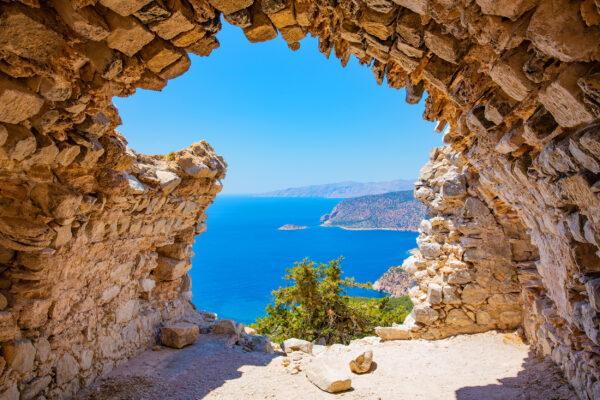Griechenland Rhodos Monolithos Schloss