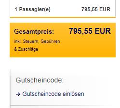 Gutschein Lufthansa