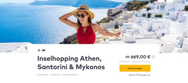 Inselhopping Griechenland