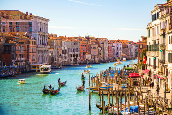 Italien Venedig Gondelfahrten