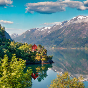 Norwegen Hanrdangerfjord Haus