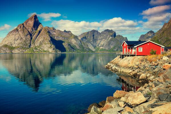 Norwegen Lofoten Haus