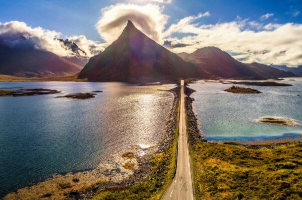 Norwegen Lofoten Straße