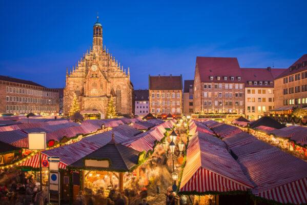 Nürnberg Weihnachtsmarkt Abend