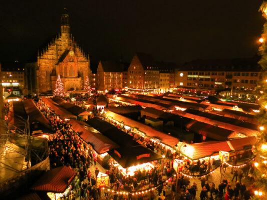 Nürnberg Weihnachtsmarkt Nacht