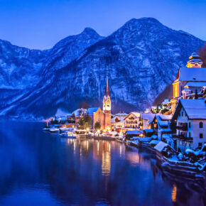 Österreich Hallstatt Winter
