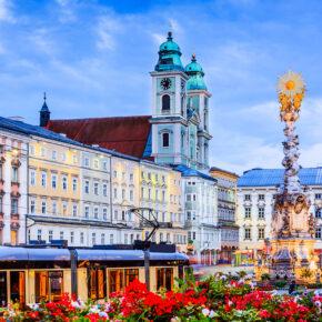 Österreich Linz Dreifaltigkeitsstatue