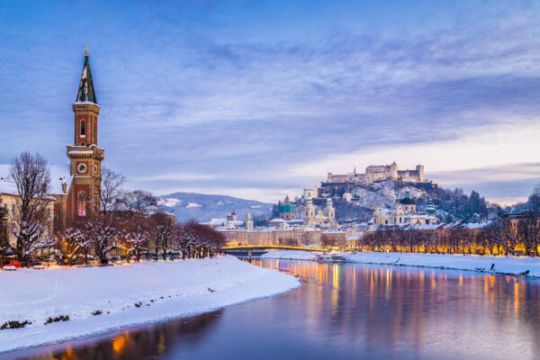 Österreich Salzburg Festung Hohensalzburg Schnee