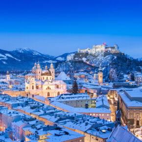 Salzburg zur Winterzeit: 2 Tage am Wochenende im zentralen 4* Hotel mit Frühstück für 31€