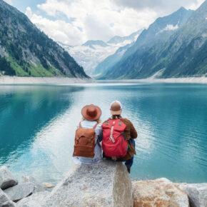 Österreich See Paar