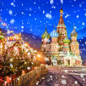 Russland Moskau Roter Platz Winter