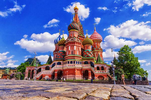 Russland Moskau St. Basil Kathedrale
