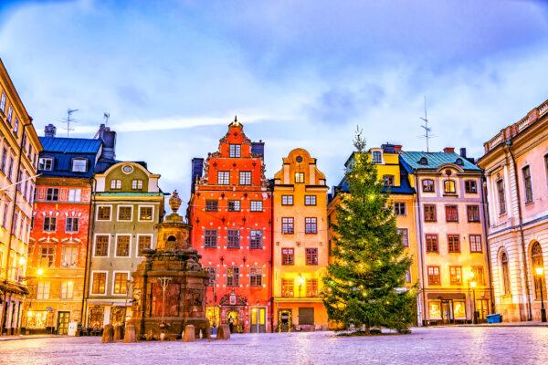 Schweden Stockholm Weihnachtlich