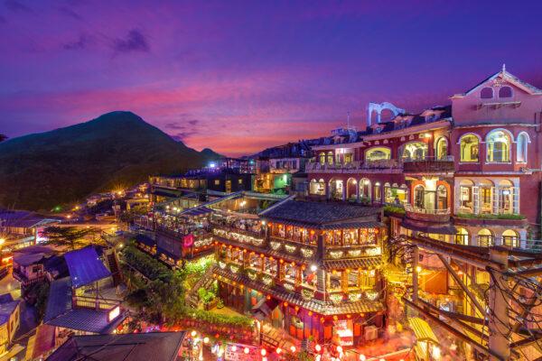 Taiwan Taipei Jiufen Nacht