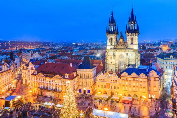 Tschechien Prag Weihnachtsmarkt Altstadt