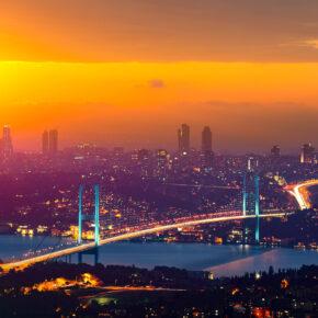 Türkei Istanbul Bosporus Brücke
