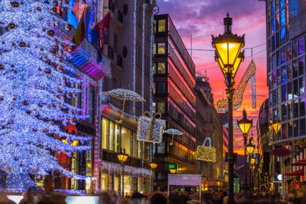 Ungarn Budapest Weihnachtsdeko