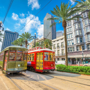 USA New Orleans Tram