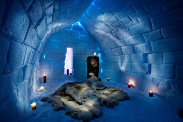 Weihnachtsmanndorf Lappland Iglu