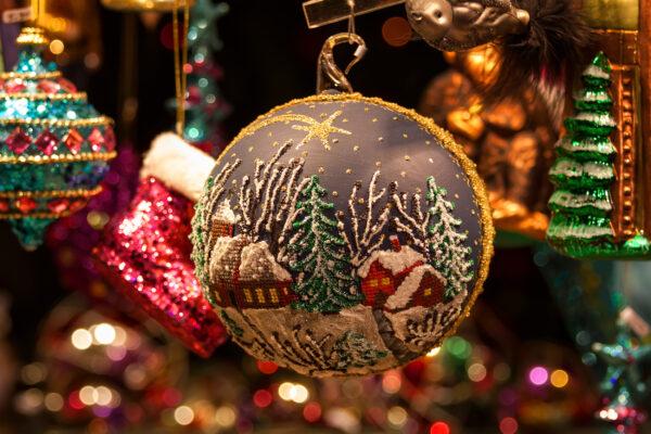 Weihnachtsmarkt Deko Kugel