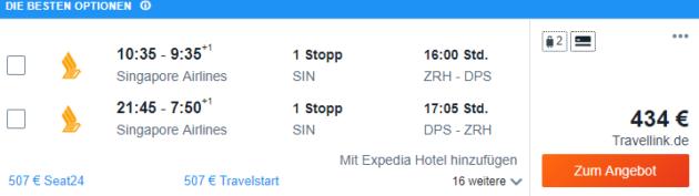Zürich nach Bali