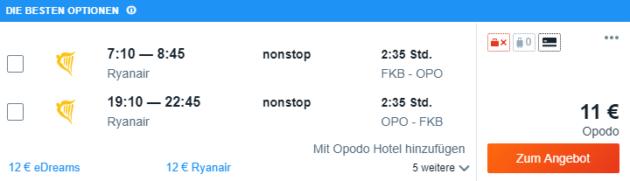 4 Tage Porto Flug