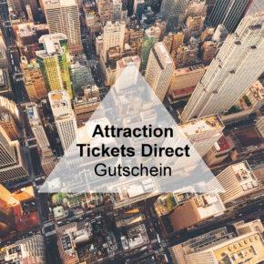 Attraction Tickets Direct Gutschein: Spart 15€ auf Eure Tickets