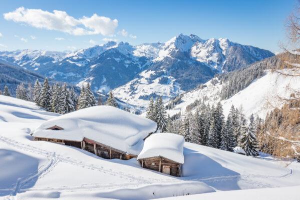 Österreich Alpen Winter Schnee