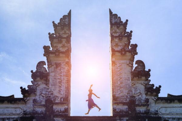 Bali Lempuyang Tempel Frau