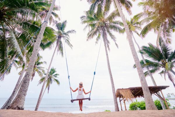 Bali Palmen Schaukel