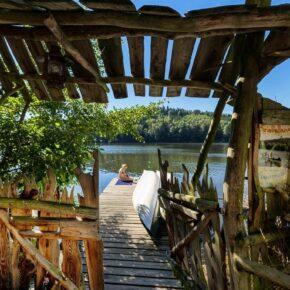 Baumhaus Kriebstein Fluss